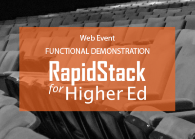 RapidStack for Higher Ed Functional Webinar